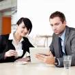 Business meeting with digital tablet — Stock Photo #25735903