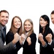 Team of business celebrating success — Stock Photo