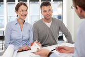Young couple buying new home — Stock Photo