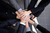 Business team joining hands — 图库照片