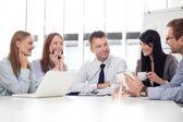 Skupina obchodní pracovní — Stock fotografie