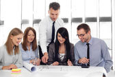 Architects working at office — Stock Photo