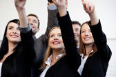 Business pointing — Stock Photo
