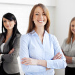Stock Photo: Three businesswomen