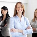 Three businesswomen — Stock Photo