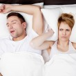 Snoring man problem. — Stock Photo