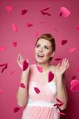 Woman fallen in love — Stock Photo
