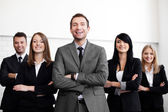 Business with leader — Stock Photo