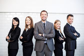 Group of business standing together — Stok fotoğraf