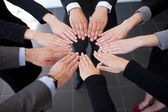 Business joining hands — Stock Photo