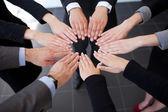 Eller katılarak iş — Stok fotoğraf