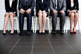 à espera da entrevista de emprego — Foto Stock