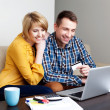 Young couple online shopping — Stock Photo #25790293