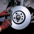 Stock Photo: Changing brake pads