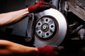 Brake repair — Stock Photo