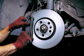 Changing brake pads — Stock Photo