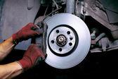 Changing brake pads — Stock Photo