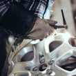 Stock Photo: Alloy wheel repair