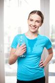 Sudore donne dopo allenamento — Foto Stock