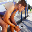 Stock Photo: Runner resting