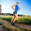 Running in countryside — Stock Photo
