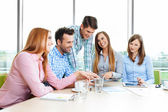 Meeting of casual corporate people — Fotografia Stock