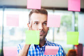 Businessman working on new project strategy — Stock Photo