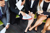 Close up of working business people — Stock Photo