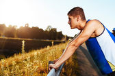 Runner resting — Stock Photo
