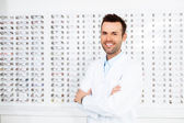 Confident optometrist — Stock Photo