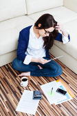 Woman working from home — Foto Stock