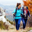 Happy couple hiking — Stock Photo #34455477