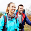 Stock Photo: Friends hiking