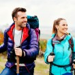 Stock Photo: Couple hiking