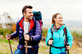 Couple hiking — Stock Photo