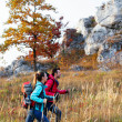 Couple hiking in mountains — Stock Photo #36190981