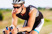 Triathlon sportsman — Stock Photo