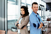 Couple of young professionals — Stock Photo