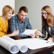 Ouple looking at future house documents — Stock Photo #40286025