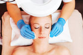 Lady taking spa facial treatment — Foto Stock