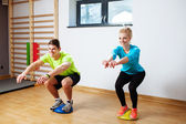 People in proprioception training session — Stock Photo