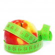 Apple with Tape Measure — Lizenzfreies Foto
