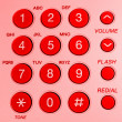 Button on the phone — Stockfoto