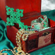 Chest jewelry box — Stock fotografie