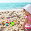 Baby on shore of sea — Stock Photo #12167624