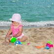 Baby on shore of sea — Stock Photo #12167627