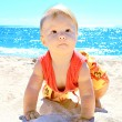 Stock Photo: Child on shores of sea