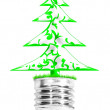 Light bulb with a tree — Stock Photo