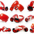 Stock Photo: Boxing gloves