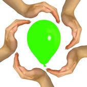 Färgglada ballonger — Stockfoto